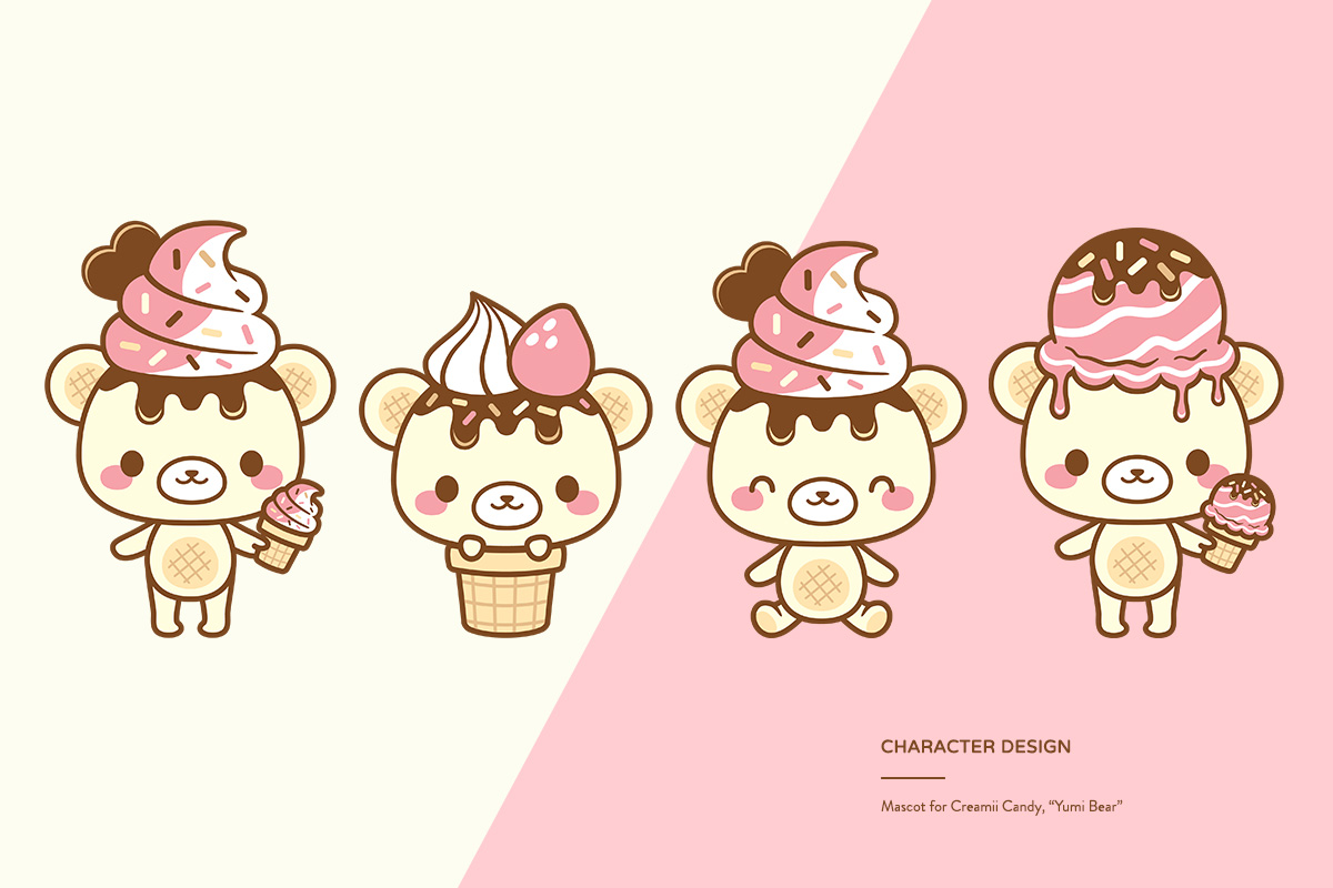 kawaii cute ice cream bear creamii candy yumi bear