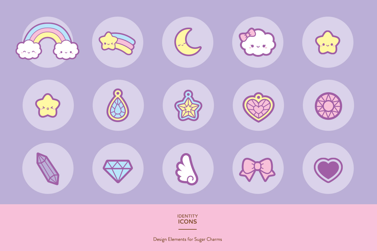 kawaii cute gems jewels bow clouds rainbow pastels stars