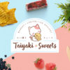 logo design, cute logo, cat logo, Taiyaki Sweets, taiyaki, Japanese-inpsired character logo design for restaurant